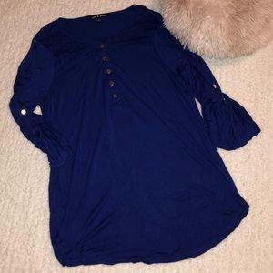 Royal Blue Tunic Top